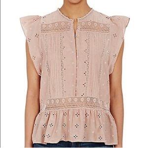 NWT Ulla Johnson Oksana dusty rose blouse